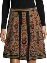 M Missoni Gonna Intarsia Skirt