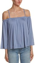 Jack by BB Dakota Women's Marpesha Rayon Jersey Off-Shoulder Top