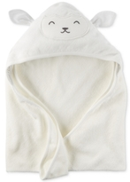Carter's Baby Boys' or Baby Girls' Hooded Lamb Towel