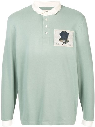 Kent & Curwen rose embroidered polo shirt