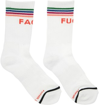 Mother FUCKFACE INTARSIA COTTON SOCKS