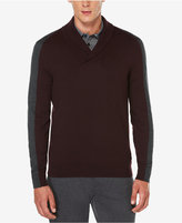 Perry Ellis Men's Jacquard Shawl-Collar Sweater