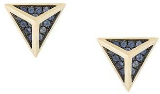 Noor Fares Tetrahedron stud earrings