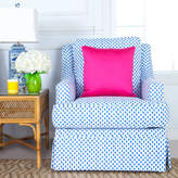 Blue Spotted Print Quinn Club Chair