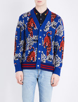 Gucci Tiger-print knitted cardigan