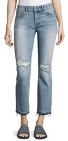DL1961 Premium Denim Mara Distressed Ankle Straight Leg Jeans, Indigo