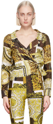 Versace Gold Barocco Patchwork Print Shirt