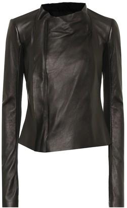 Rick Owens Low Neck leather biker jacket