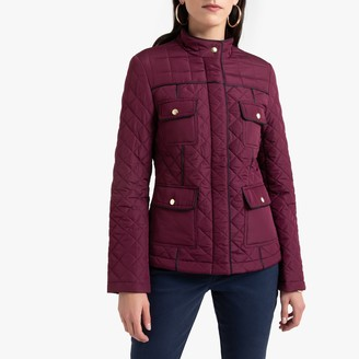 Anne Weyburn Water-Repellent Padded Parka with Stain-Resistant Finish