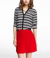Express Striped Convertible Sleeve Portofino Shirt