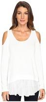 Karen Kane Cold Shoulder Lace Inset Sweater