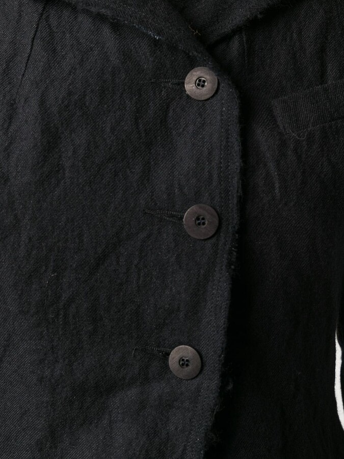 Thumbnail for your product : Marc Le Bihan Wrinkled-Effect Flared Coat