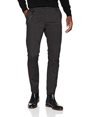 Antony Morato Men's Carrot Bogart Trousers, Nero 9000