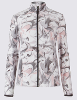 M&S Collection Blurred Floral Print Jacket