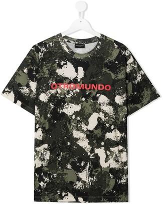 Marcelo Burlon County Of Milan Kids TEEN camouflage-print cotton T-shirt