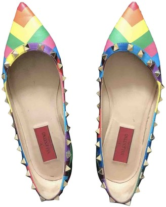 Valentino Rockstud Multicolour Leather Ballet flats