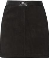 Rebecca Minkoff Fred embellished suede skirt