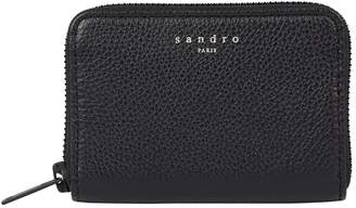 Sandro Grained Leather Coin Wallet