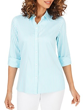 Foxcroft Morgan Day Stripe Non-Iron Shirt