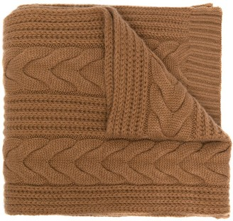 N.Peal Cable Knit Cashmere Scarf
