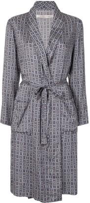 Raquel Allegra Geometric-Print Wrap Dress