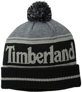 Timberland Men's Color-Blocked Logo Watch Cap with Pom