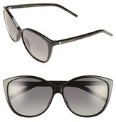 Marc Jacobs Women's 58Mm Polarized Butterfly Sunglasses - Black