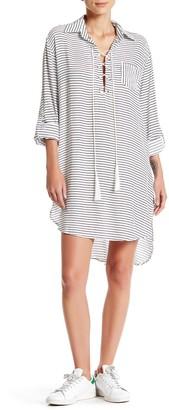 Blu Pepper Long Sleeve Striped Dress