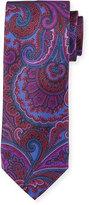 Neiman Marcus Italian-Made Tapestry Silk Printed Tie