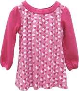 BabyCenter Little Green Radicals organic Fairtrade cotton Recycle Print Dress (Fuschia & Pink, 5-6 Years)