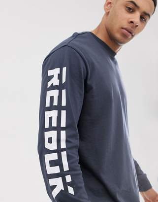 Reebok meet you there long sleeve top in navy