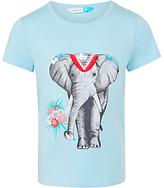John Lewis Girls' Elephant Graphic T-Shirt, Blue