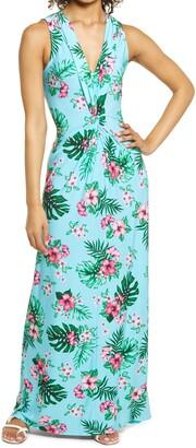 Tommy Bahama Fanning Floral Print Maxi Dress