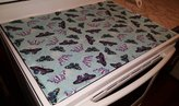 Penny's Needful Things Blue & Purple Butterflies Themed Stove Top / Cook Top Cover & Protector