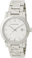 Burberry 34mm The City Stainless Steel Bracelet Watch, White