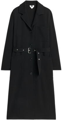Arket Belted Wool Coat