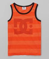 DC Orange Stripe 'DC' Tank - Boys