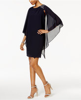 Jessica Howard Embellished Capelet Dress