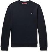 McQ Slim-Fit Appliquéd Loopback Cotton-Blend Jersey Sweatshirt
