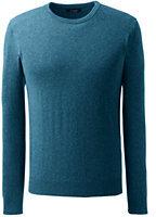Classic Men's Fine Gauge Cashmere Crewneck Sweater-Gala Red Plaid