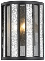 Z-Lite Z8-57WS Juturna - Two Light Wall Sconce, Finish with Clear Seedy Glass with Silver Mercury Shade