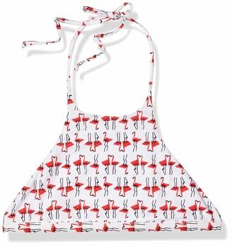 Milly Women's Flamingo Print High-Neck Halter Bikini Top