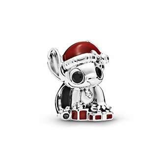 Pandora Silver Charm Stitch Christmas Disney 798452C01