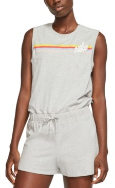 Nike Women's Cotton Striped Romper