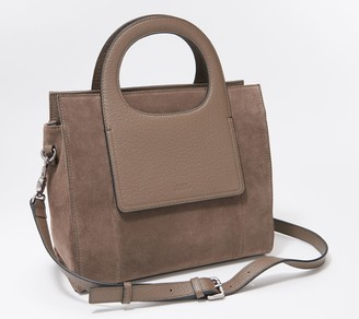 Vince Camuto Small Leather Tote with Crossbody Strap - Beck