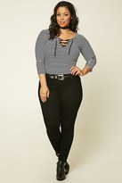 Forever 21 Plus Size Mid-Rise Ankle Jeans