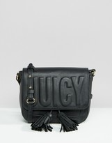 Juicy Couture Black Embossed Cross Body Bag