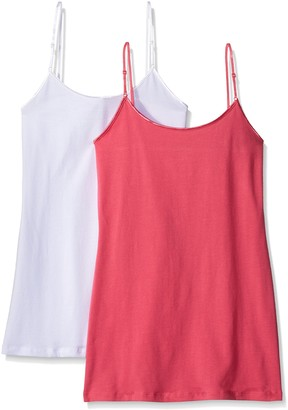 Pure Style Girlfriends Women's Cami Tank with Adjustable Strap 2-Pack