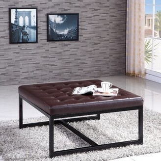 NOYA USA Metal Bench Color: Brown
