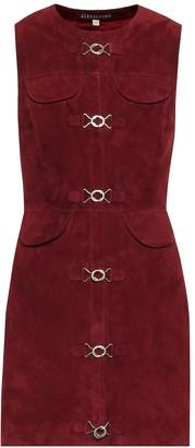 ALEXACHUNG Suede dress